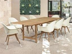 Amazonia Charlotte 9 Piece Teak Rectangular Dining Set