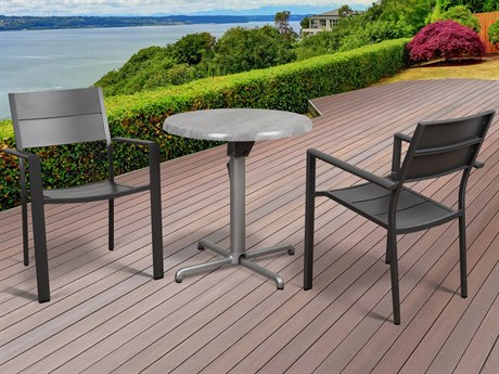 International Home Miami Atlantic Koningsdam 3 Piece Round Dining Set