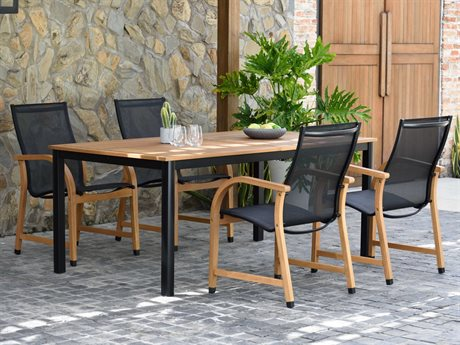 International Home Miami Amazonia Maria 4 Piece Extendable Rectangular Wood Dining Set