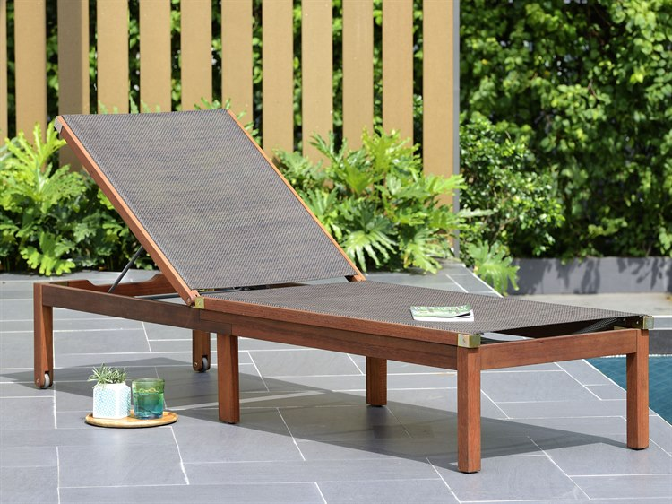 International Home Miami Amazonia Zuiderdam Lounger Brown PatioLiving