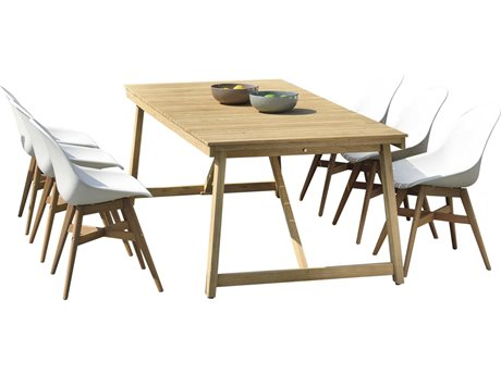 International Home Miami Amazonia Klaire 9 Piece Rectangular Wood Dining Set