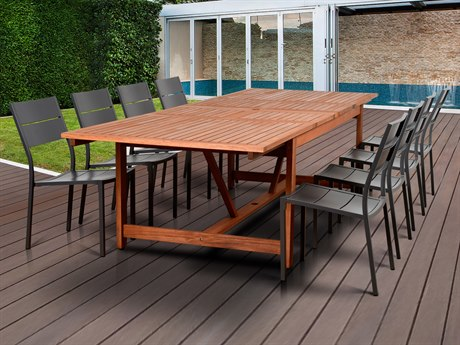 International Home Miami Amazonia Koningsdam 9 Piece Rectangular Dining Set