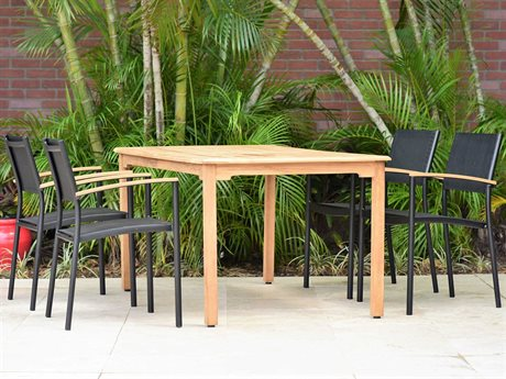 International Home Miami Amazonia Fontana 5 Piece Rectangular Wood Dining Set