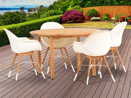International Home Miami Amazonia Charlotte 5 Piece Teak Round Dining Set