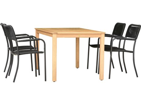 International Home Miami Amazonia Oosterdam 5 Piece Rectangular Wood Dining Set