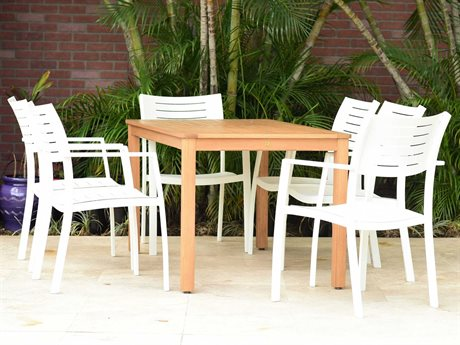 International Home Miami Amazonia Noordam 7 Piece Rectangular Wood Dining Set