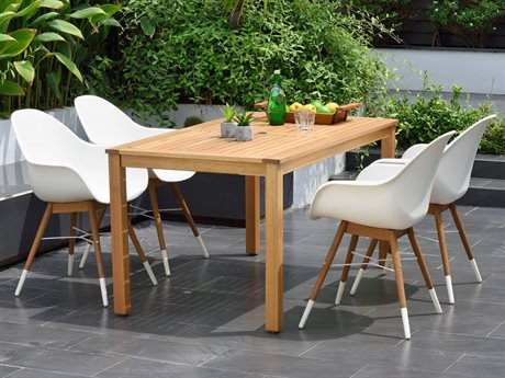 International Home Miami Amazonia Charlotte 5 Piece Rectangular Wood Dining Set