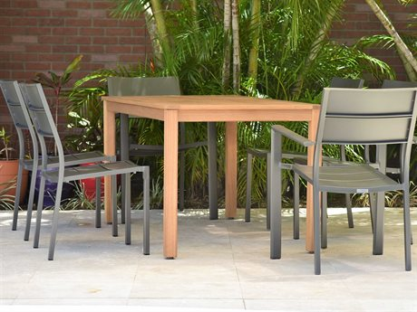 International Home Miami Amazonia Koningsdam 7 Piece Rectangular Wood Dining Set