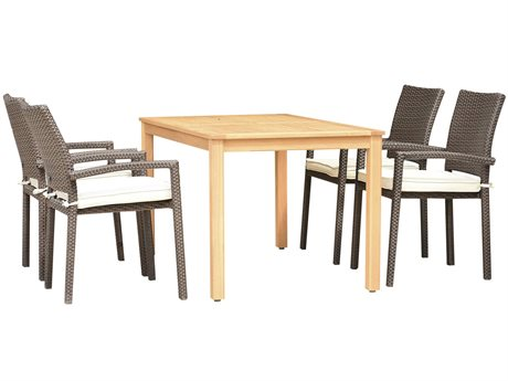 International Home Miami Amazonia Damian 5 Piece Rectangular Wood Dining Set