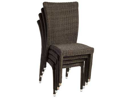 International Home Miami  Atlantic WIcker Bari Dining Side Chair (4 Piece Set)