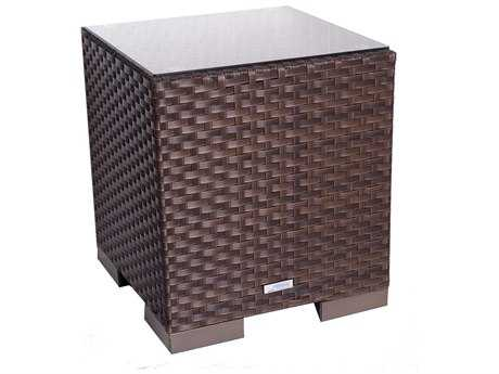 International Home Miami  Atlantic Wicker 17 Square End Table PatioLiving