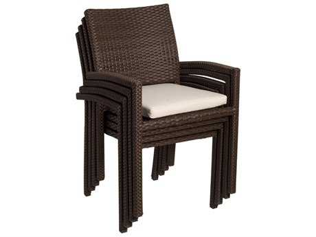 International Home Miami  Atlantic Wicker Liberty Dining Arm Chair (4 Piece Set)