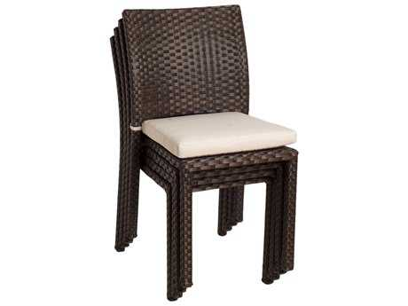 International Home Miami  Atlantic Wicker Liberty Dining Side Chair (4 Piece Set) IMPLILIBERSIDE4