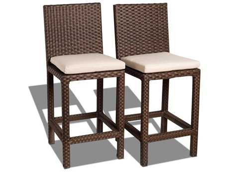 International Home Miami  Atlantic Wicker Monza Barstool (2 Piece Set) PatioLiving