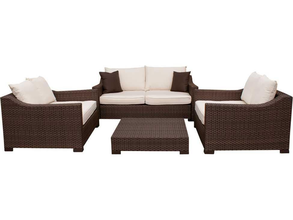 International home miami atlantic wicker dark brown four for International seating and decor windsor