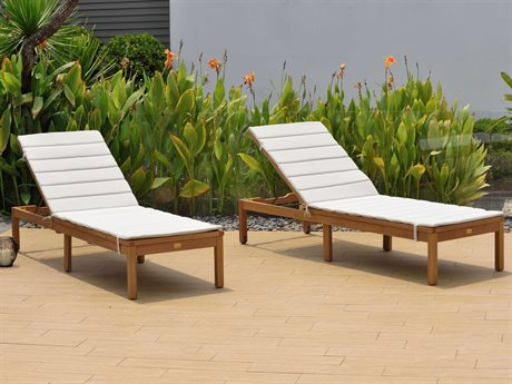 International Home Miami Amazonia Karen 2 Piece Wood Chaise Lounge Set