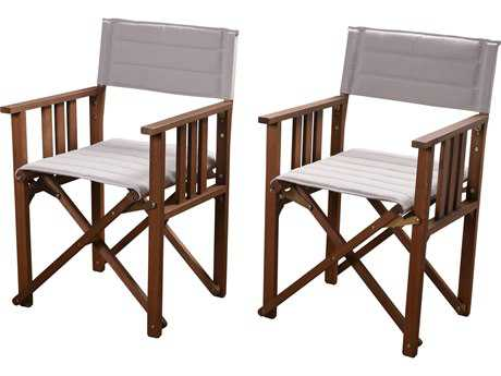 International Home Miami Amazonia 2 Piece Director Panama Chair Set Khaki - Price Includes Two Chairs