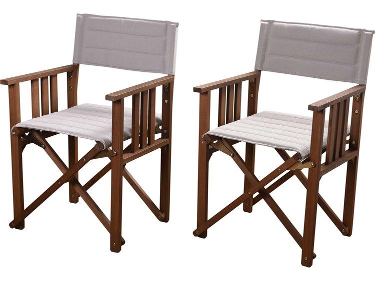 International Home Miami Amazonia 2 Piece Director Panama Chair Set Khaki