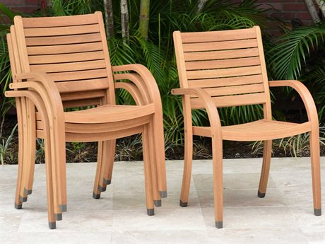 International Home Miami Amazonia Eva 4 Piece Wood Dining Chair Set