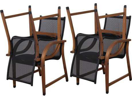 International Home Miami  Amazonia Eucalyptus Bahamas Dining Arm Chair (4 Piece Set)