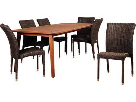 International Home Miami Amazonia Abaco 7 Piece Eucalyptus Rectangular Dining Set