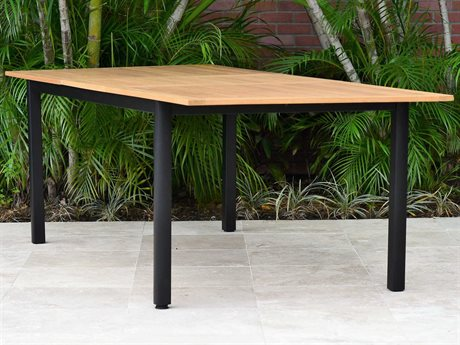 International Home Miami Amazonia Ivy Aluminum Extendable Rectangular Dining Table