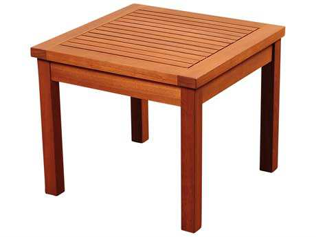 International Home Miami Amazonia Kingsbury Eucalyptus 19 Square Side Table
