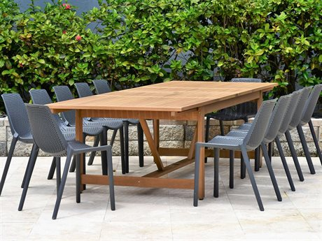 International Home Miami Amazonia 13 Piece Rectangular Wood Dining Set