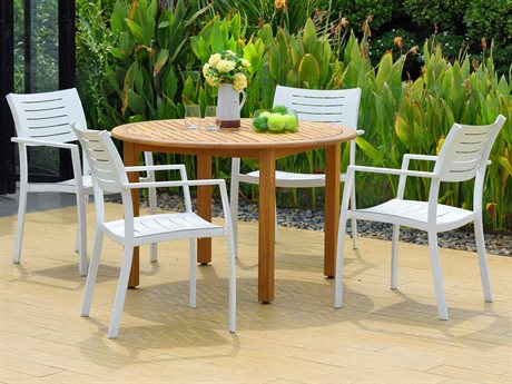 International Home Miami Amazonia Noordam 5 Piece Round Wood Dining Set