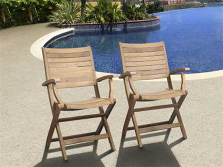 International Home Miami  Amazonia Teak Dublin Dining Arm Chair (2 Piece Set)