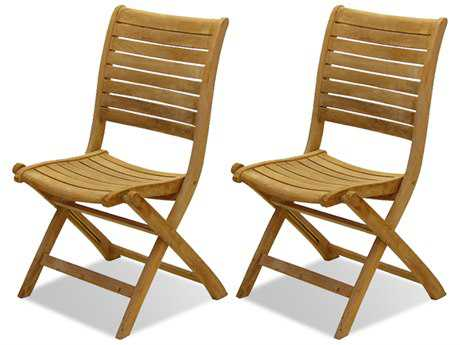International Home Miami  Amazonia Teak Dublin Dining Side Chair (2 Piece Set) IMSCPALUSET