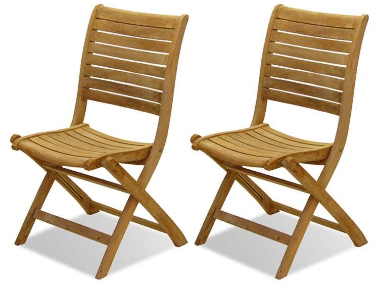 International Home Miami  Amazonia Teak Dublin Dining Side Chair (2 Piece Set) PatioLiving