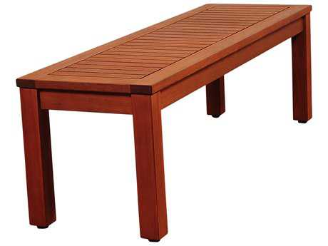 International Home Miami Amazonia Richfield 53 Eucalyptus Backless Bench