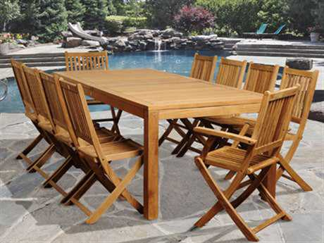 International Home Miami  Amazonia Teak Rectangular 11 Piece Blair Dining Set