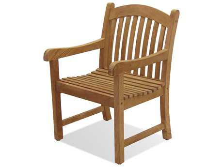 International Home Miami  Amazonia Teak Newcastle Dining Arm Chair (2 Piece Set)