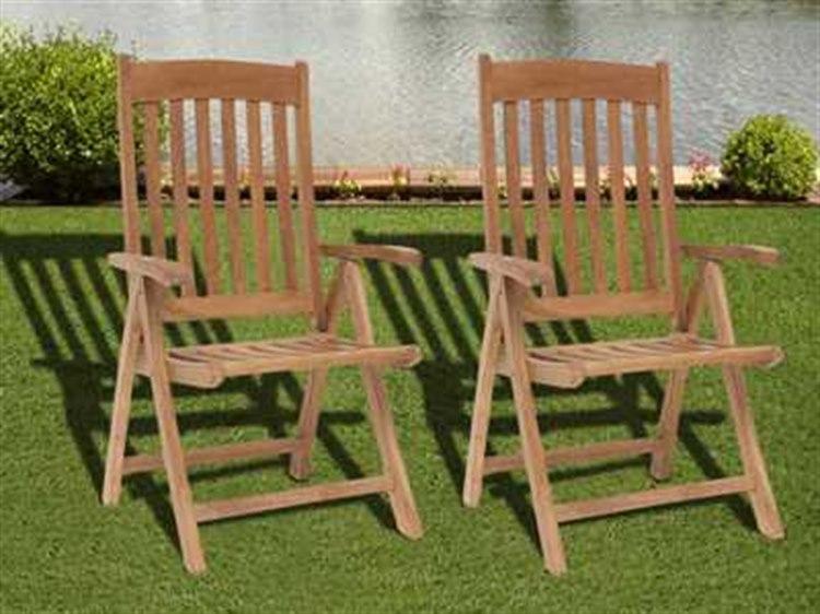 International Home Miami  Amazonia Teak Belfast Dining Arm Chair (2 Piece Set) PatioLiving
