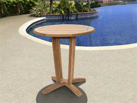 International Home Miami  Amazonia Teak 27 Round Cocktail Table