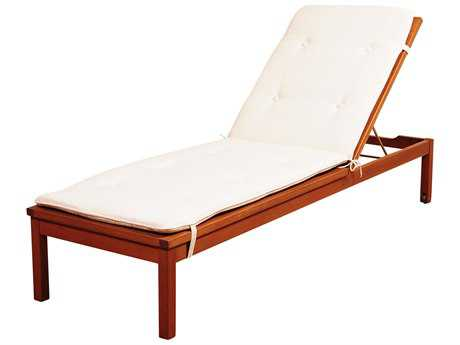 International Home Miami Amazonia Washburn Wheel Lounger with  White Cushions PatioLiving