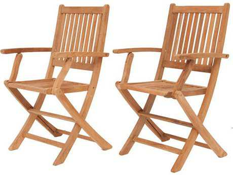 International Home Miami  Amazonia Teak London Dining Arm Chair (2 Piece Set)