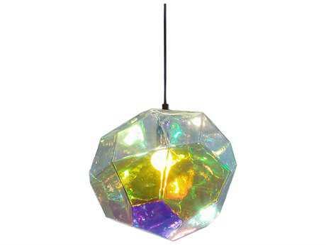 Innermost Asteroid Petrol Glass 11'' Wide Pendant Light