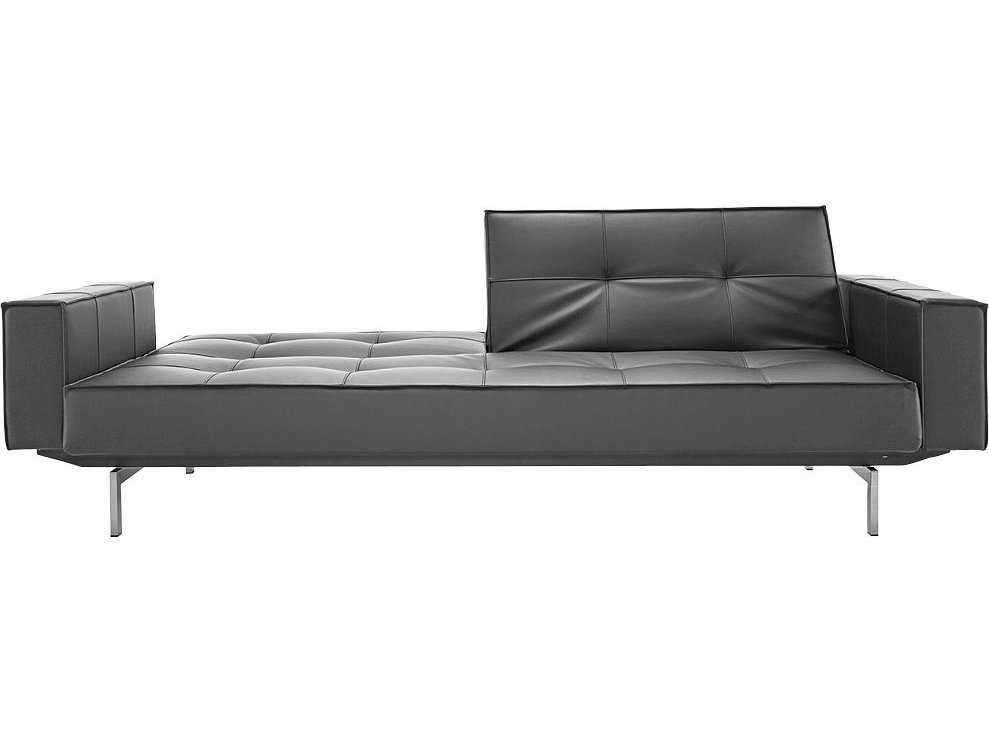 Innovation Splitback Arm Sofa Bed With Stainless Steel