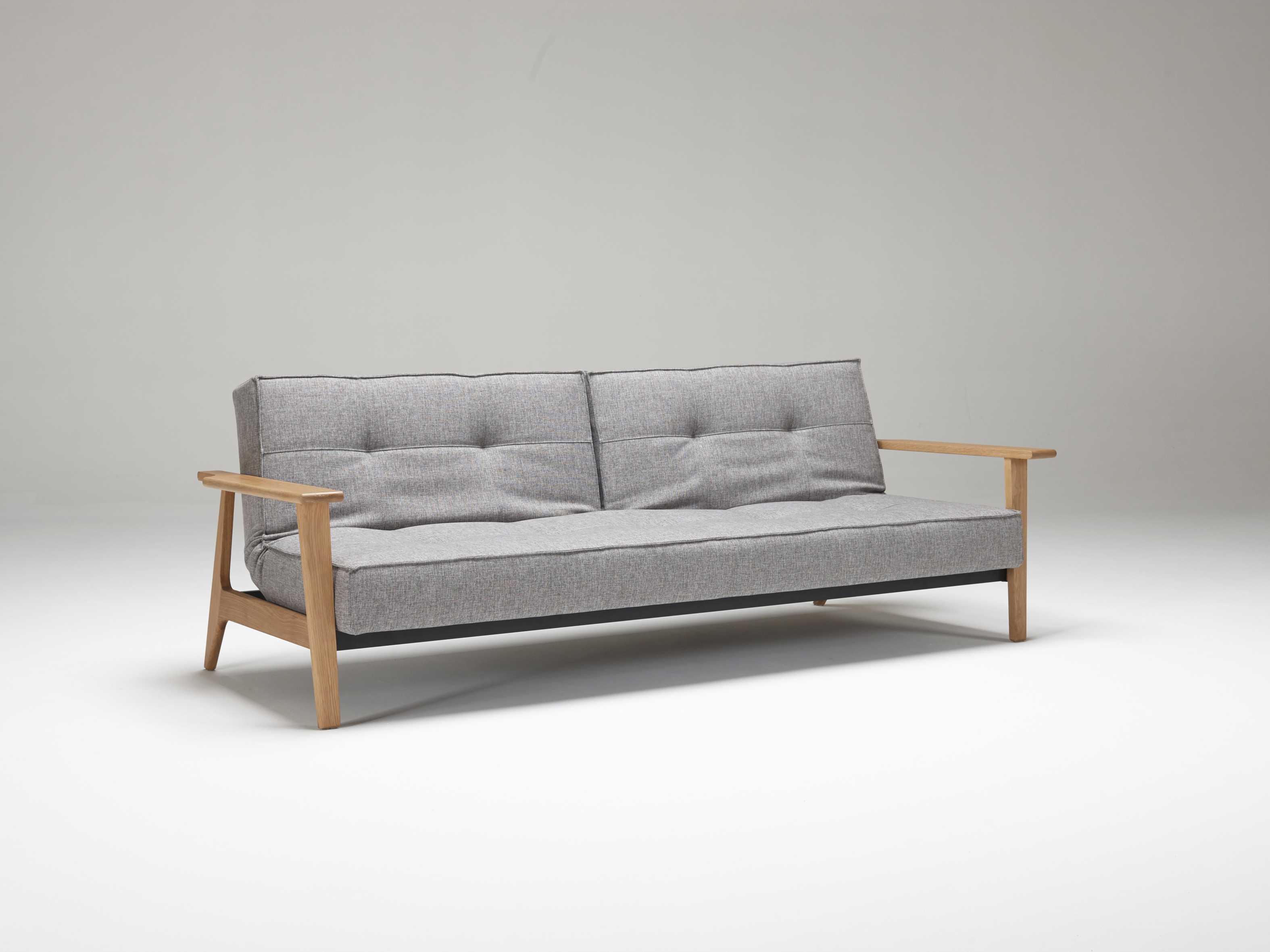 innovation splitback frej lacquered oak leg sofa bed iv9474101002752. Black Bedroom Furniture Sets. Home Design Ideas
