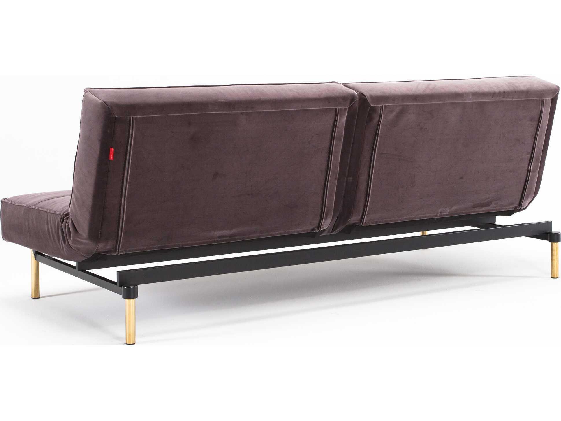 innovation split back brass leg sofa bed iv947410101372. Black Bedroom Furniture Sets. Home Design Ideas