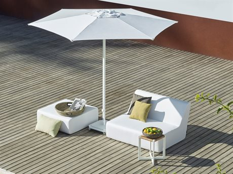 Jardinico JCP1 9ft Hexagon Center Post Push-up Lift No Tilt Aluminum Umbrella with Base