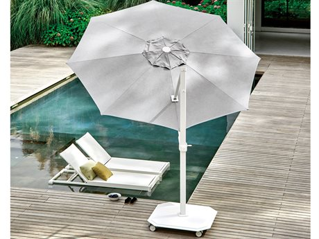 Jardinico JCP3 11.5ft Aluminum Crank Lift Infinite Tilt Octagon Umbrella with Base