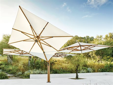 Jardinico Quad Sidepost Alu 10 Foot Square 4 Canopy Umbrella