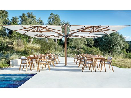 Jardinico Quad Sidepost Alu 10 Foot 2 Canopy Umbrella
