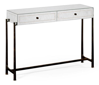 Jonathan Charles Luxe Antique Bronze Finish On Metal 48 x 13.75 Rectangular Console Table