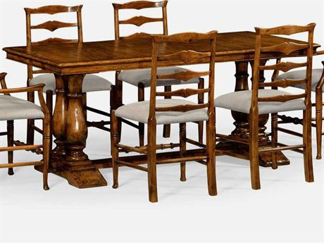 Jonathan Charles JC Edited - Casually Country Country Farmhouse Walnut 71'' x 41'' Rectangular Fixed Top Dining Table
