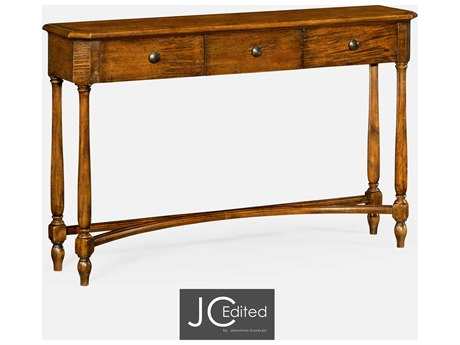 Jonathan Charles JC Edited - Casually Country Walnut Country Farmhouse Console Table